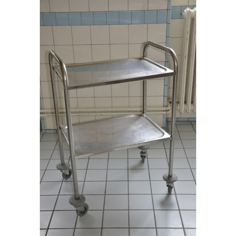CHARIOT INOX 2 TABLETTE