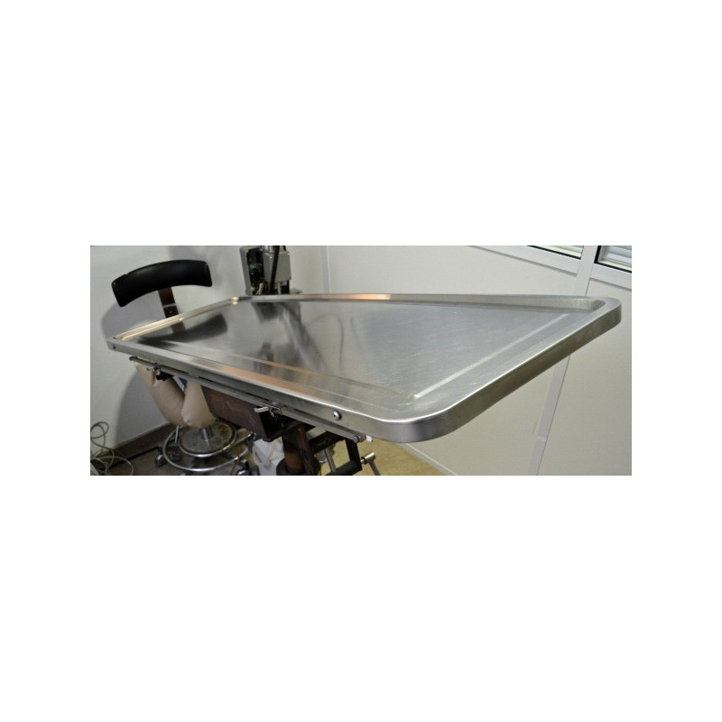 TABLE D'OPERATION VETERINAIRE INOX SHORE LINE SUPPORT INCLINABLE (SANS PIED)