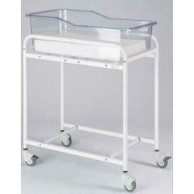 BABY CART STEEEL TUBE TRANSPARENT PLEXIGLAS