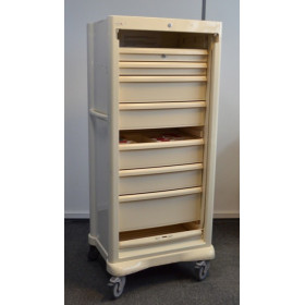 ARMOIRE ROULANTE A MEDICAMENTS GRAND FORMAT, FERMETURE A VOLET