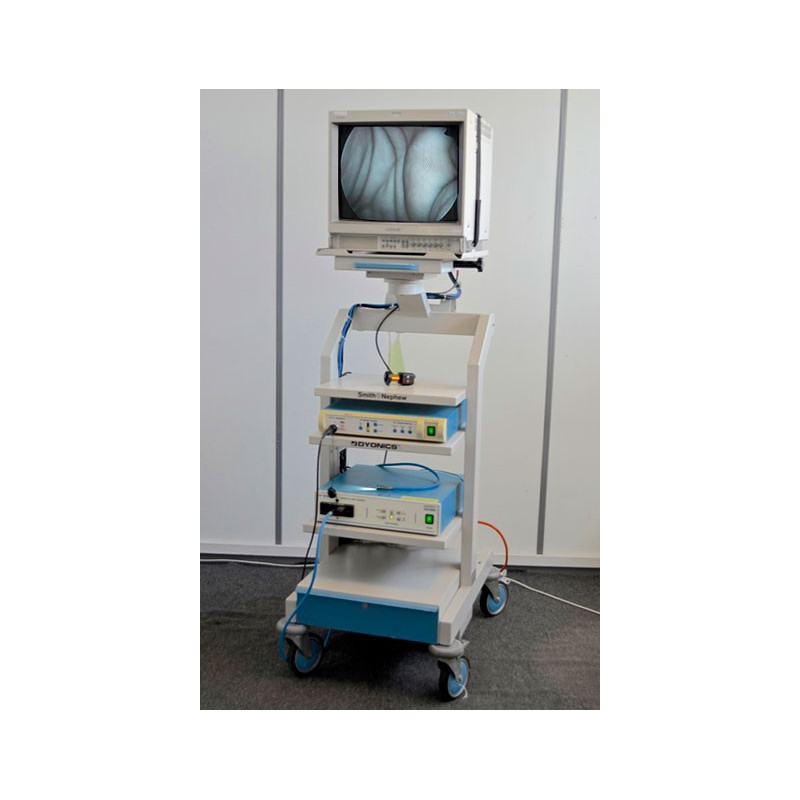 COLONNE D'ENDOSCOPIE COMPRENANT : MONITEUR SONY CAMERA 3CCD SMITH ET NEPHEW ED3 + SOURCE DE LUMIERE XENON X