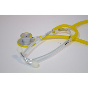 STETHOSCOPE DOUBLE PAVILLON SELECTSON COLOR JAUNE