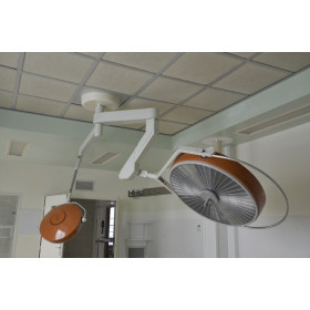 ALM DOUBLE HEADED SURGICAL CEILING LIGHT