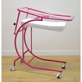 PINK COLOR PLEXI BABY CART