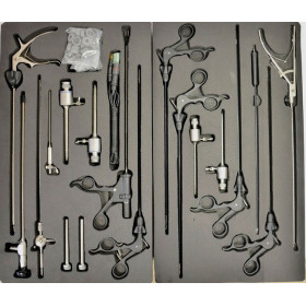 COELIOSCOPY SET WITH 19 INSTRUMENTS