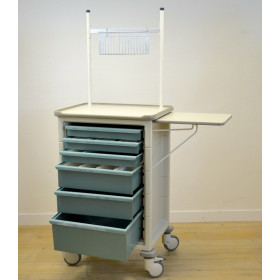 MILCARE GREEN TREATMENT TROLLEY WITH 6 DRAWERS
