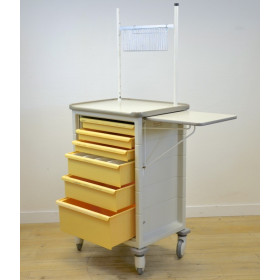 MILCARE YELLOW TREATMENT TROLLEY WITH 6 DRAWERS