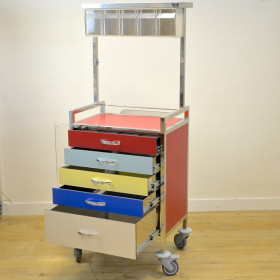 MULTI-COLOR TROLLEY WITH 5 DRAWERS