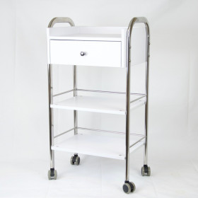 GUERIDON WITH DRAWER AND CASTERS