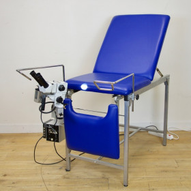 GYNECOLOGICAL CONSULTATION TABLE WITH VIDEO-COLPOSCOPE BAG COLPO IV