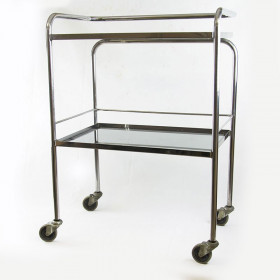 HEADER TWO TRAYS ON STAINLESS WHEELS