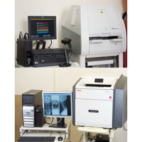 KODAK DIRECTVIEW CR500 SCANNING SYSTEM WITH CARESTREAM DRYVIEW 5950 LASER PROCESSOR AND REPROGRAPHIC