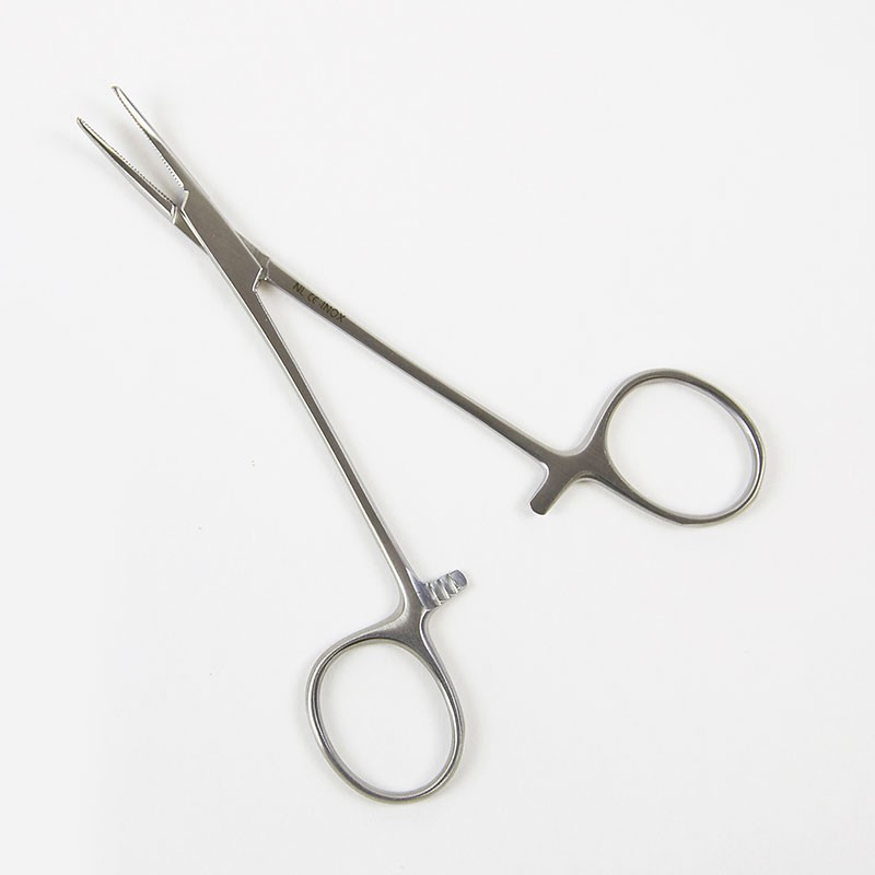 PINCE D'HALSTEAD COURBE S/G 12CM (HALSTEAD FORCEPS CURVED NO TEETH 12CM)