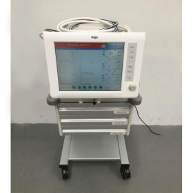 DRAGER EVITA XL VENTILATOR ON STAND WITH HOSES SOFTWARE VERSION 07.02