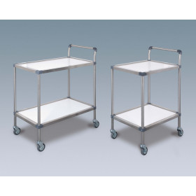 2 COMPOSITE TRAYS TROLLEY WITH HANDLE