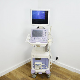 ALOKA PROSOUND ALPHA 6 COLOR DOPPLER ULTRASOUND WITH 2 PROBES