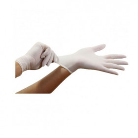 GANTS LATEX POUDRÉ (LOT DE 1000)
