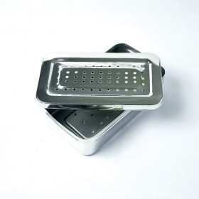 PERFORATED STAINLESS STEEL INSTRUMENT BOX 220X100X30MM