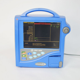 GENERAL ELECTRIC  DINAMAP PRO 1000  MULTIPARAMETRIC MONITOR  with BP,SpO2,ECG and Printer WITHOUT ACCESSORIES