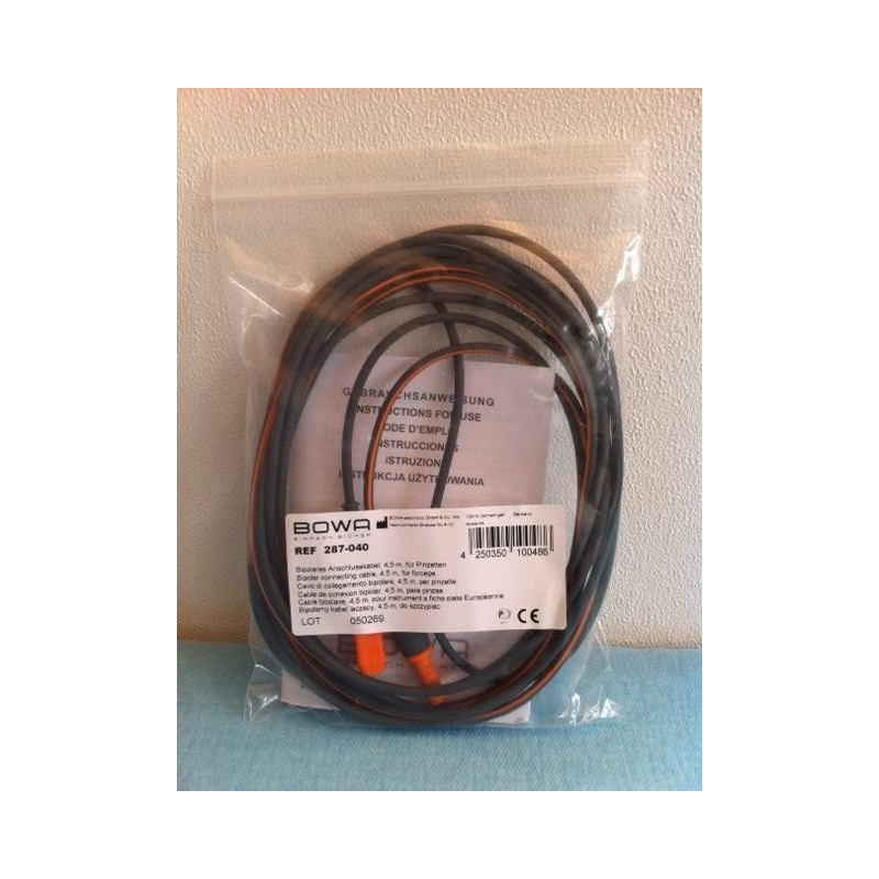 CABLE BIPOLAIRE 4.5M POUR BISTOURI MARTIN / BERCHTOLD NEUF
